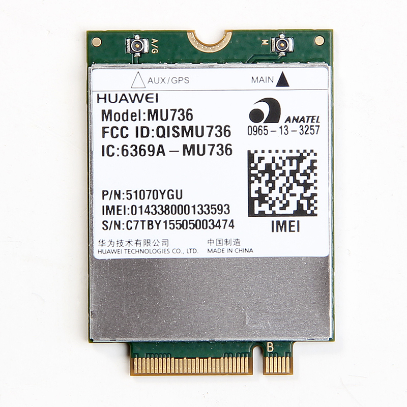 UNLOCKED HUAWEI MU736 Wireless 3G WWAN NGFF M.2 Card WCDMA/HSP/HSPA+/EDGE/GPRS/GSM Module For Ultrabook Laptop Tablet(China (Mainland))