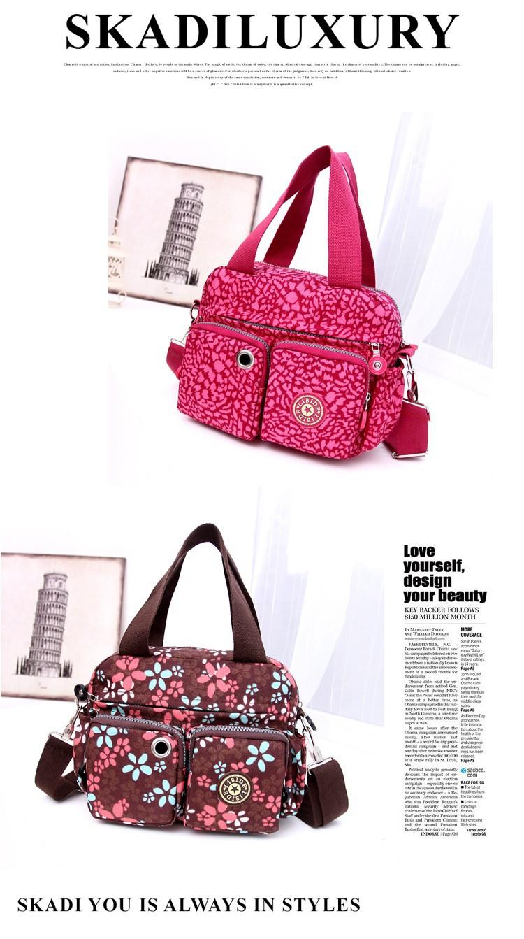 Women Brand Handbag Kip Tote Shoulder Cross-body Bag Bolsas Female