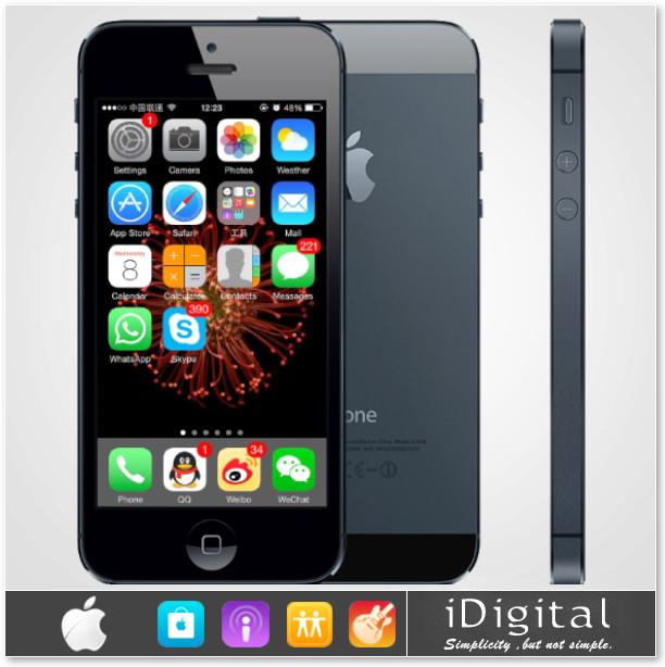 "Original Apple iPhone 5 Unlocked Mobile Phone IOS 8 Dual Core 1G RAM 16GB/32GB ROM 4.0"" 8MP Camera WIFI GPS 3G Smart Cell Phones(China (Mainland))"
