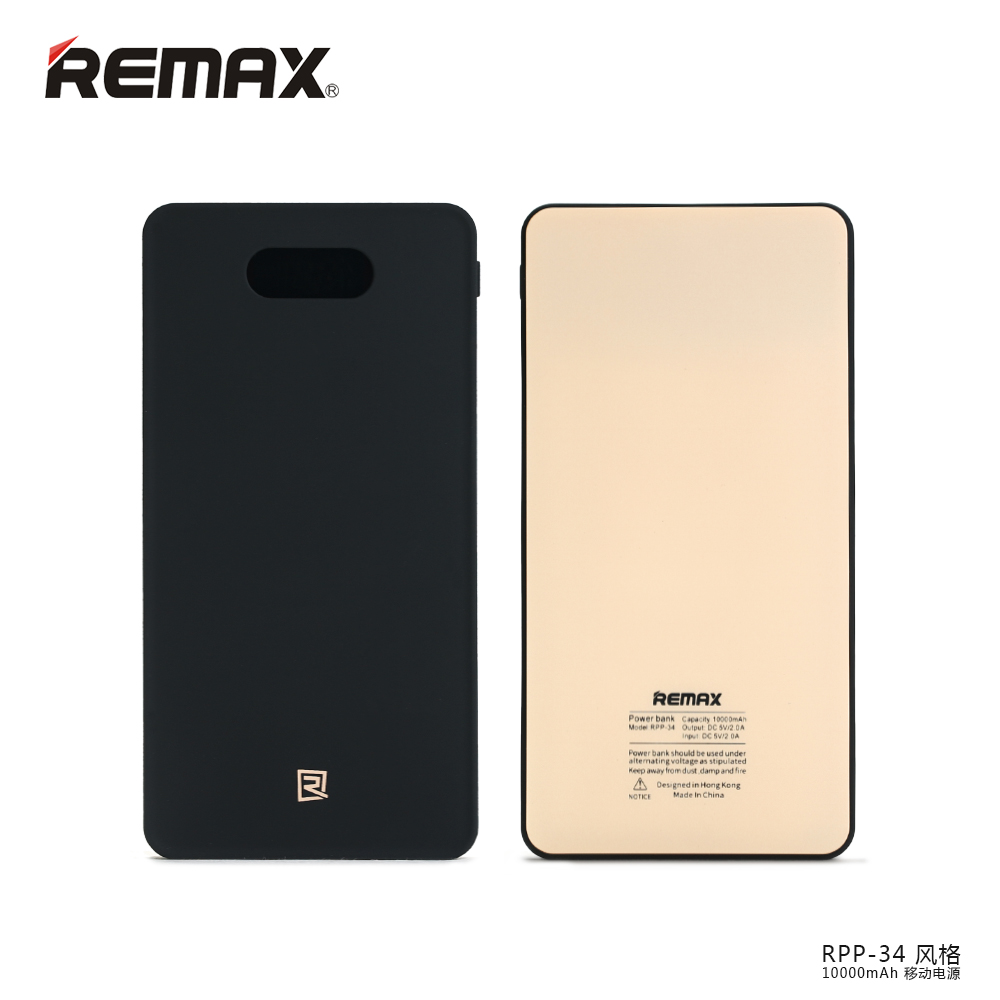 REMAX PPL-34 Portable USB Power Bank 10000mAh 2USB External Mobile Phone Battery Backup For iPhone5S 6S Samsung Xiaomi Android(China (Mainland))