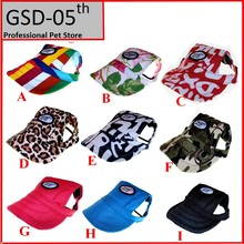 Dog Baseball Hat Summer Canvas Cap Only For Small Pet Dog Outdoor Accessories Outdoor Hiking Sports(China (Mainland))