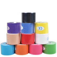 12 Colors 5cm x 5m Sports Muscle Stickers Tape Roll Cotton Elastic Adhesive Muscle Bandage Strain Injury Support(China (Mainland))