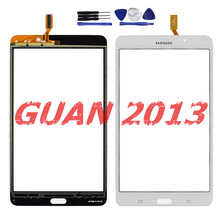 For Samsung Galaxy Tab 4 7.0 T230 WIFI White Touch Screen Digitizer Glass Lens Replacement Free tools(China (Mainland))