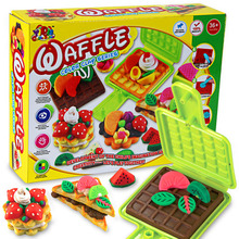 Free shipping kids playdough color clay 3d breakfast moulds kit tools creative mud plasticine diy toys for children(China (Mainland))