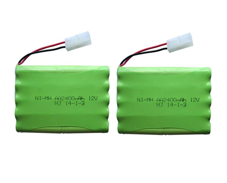 2pack 12v 2400mah ni-mh bateria 12v rc battery nimh battery pilas recargables 12v pack 10x aa size ni mh for rc car toy battery(China (Mainland))