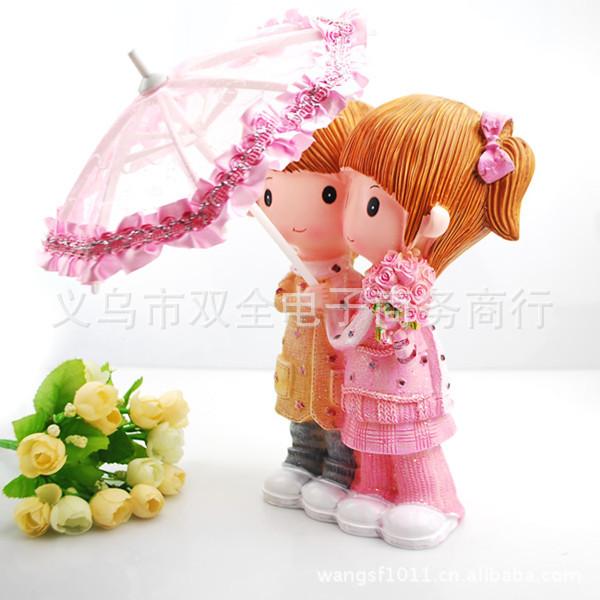 A1133 resin piggy piggy lover umbrella desktop ornaments gifts wholesale money lovers(China (Mainland))