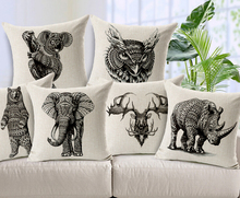 European Forest Animals Cushion Throw Pillows