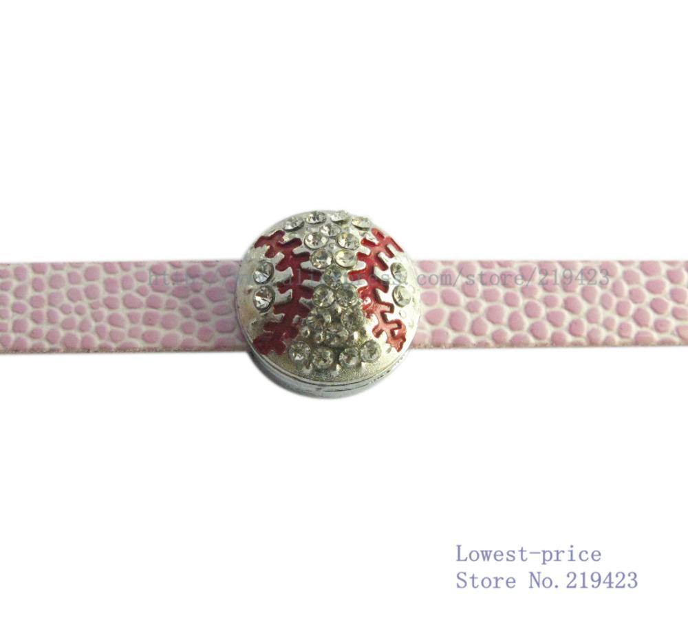 Free shipping! 10pcs bling softball 8mm DIY Accessories Angel slide Charms Zinc alloy fit 8mm belt wristband(China (Mainland))