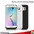 For Samsung galaxy S6 edge 4200mAh External Backup Battery Charger Power Bank Back Case Cover For