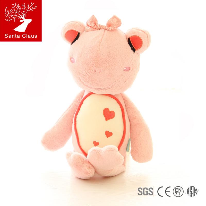 "SantaClaus 22"" 55cm frog plush toy The Frog Prince soft doll birthday gift Christmas gift(China (Mainland))"