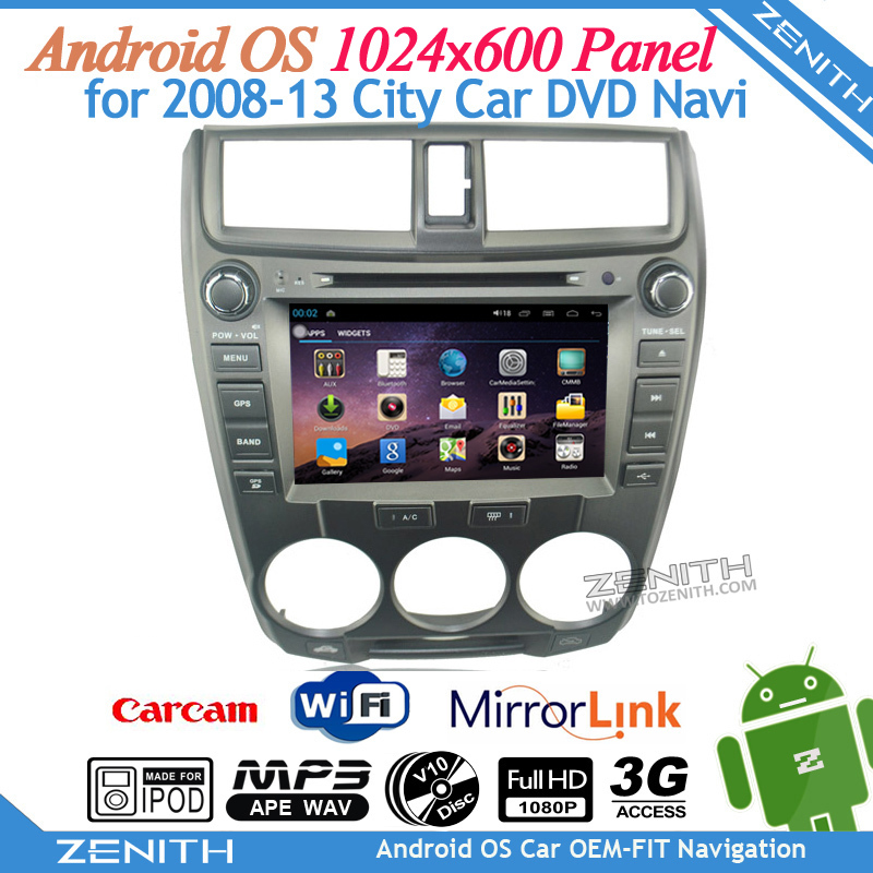 Sale Android OS Capacitive touch screen stereo headunit city car gps navigation system with 2008-2013 TV 3G Radio WiFi Bluetooth(Hong Kong)