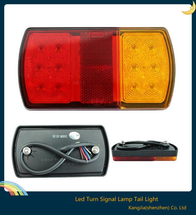 Hot ! 1pcs 12v 2w Led Car Truck Trailer Tail Reverse Led Lights Turn Signal Lamp Tail Light For Trailer Boat Car 150*80*23mm(China (Mainland))