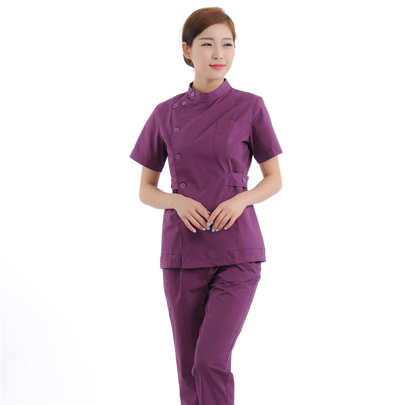 New Women Medical Scrub Sets Nurse Hospital Uniforms Dental Clinic Beauty Salon Short Sleeve Medical Workwear Slim Fit 1934(China (Mainland))