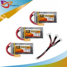 Buy 3pcs zop Original LiPo Battery 11.1V 1500Mah 3S 40C MAX 60C XT60 Plug cable RC Car Airplane trucks buggy boats Helicopter for $35.80 in AliExpress store