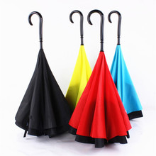 Double Layer Reverse Umbrella open/close in the narrowest space Creative graphic Windproof SPORTS LONG Umbrella Car Umbrella(China (Mainland))
