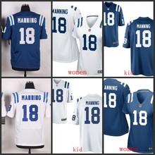 ABC100% Elite men Indianapolis Colts free shipping 2016 new women kids youth 18 Peyton Manning(China (Mainland))