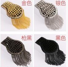 Handmade vintage jewelery  tassel rivet chain big shoulder brooch epaulets/epaulettes spikes/escapulario men blazer  accessories