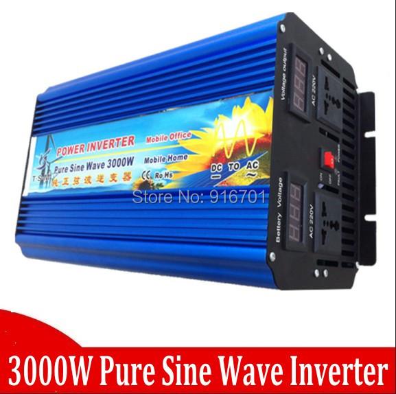 48v 3000w inverter 3kw pure sine wave, off grid tie, solar home inverter Inversor de onda senoidal(China (Mainland))