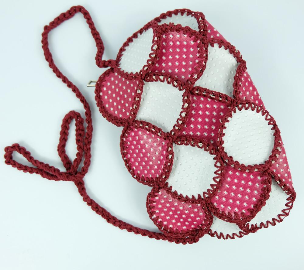 Wholesale Vintage Handmade Crochet Knite Hand Pouch Purse Bags fancy style crochet design good hand feeling weave mini tote bag(China (Mainland))