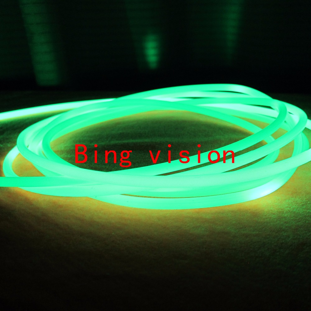 5.0mm Side glow Solid core optic fiber cable 5m for car light decoration or other indoor 5mm side glow fiber optic ligting(China (Mainland))