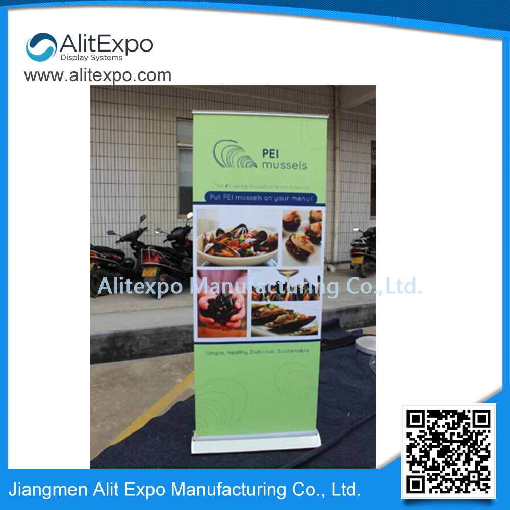 high quality custom design logo printed promotion portable exhibition roll up stand(China (Mainland))
