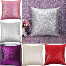3Pcs Home Car Cafe Decoration Glitter Sequins Throw Pillow Decorative Case Waist Cushion Cover Christmas Gift Massage Relaxation(China (Mainland))
