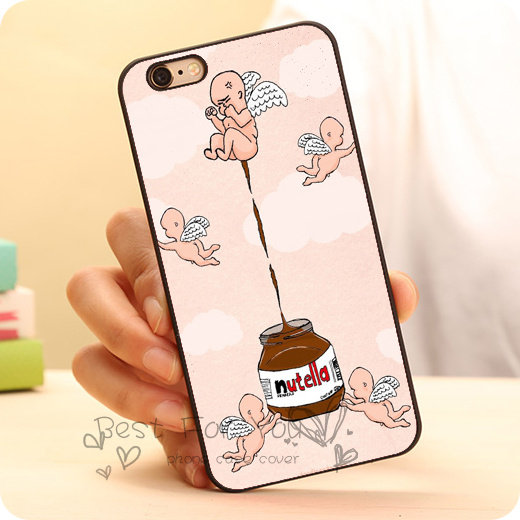 Funny donut Chocolate Nutella Hard Skin Mobile Phone Cases Accessories For iPhone 6 6plus 5c 5s 5 4 4s Case Cover Original(China (Mainland))