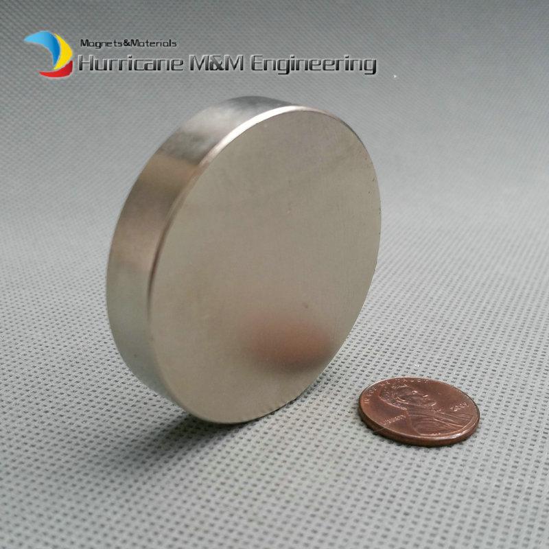 "N52 NdFeB Magnet Disc Dia50 x 10 mm 1.97"" 25 KG Pulling  Super Strong Magnet Neodymium Permanent Rare Earth Magnets NiCuNi от Aliexpress INT"