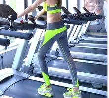 2015 Women  Sports  Elastic Wicking Force Exercise  Female Sports Elastic Fitness Running Trousers Slim Leggings(China (Mainland))