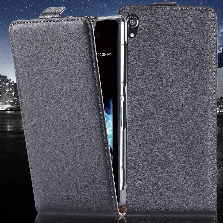 For Sony Z3 Mobile Phone Cases High Quality Real Genuine Leather Case Cover For Sony Xperia Z3 D6603 D6643 D6653 D6616 D6633(China (Mainland))
