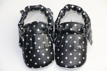 Stripped New Born Baby Moccasins shoes Bow Cotton stripe Baby First Walkers Bow Kids Soft Soled Shoe Anti-slip Shoes