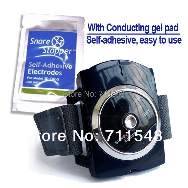 Free shipping Infrared Rays Snore Stopper Sleeping Snoring Watch with Snore Conductive Gel Pad