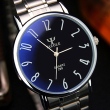 Excellent Quality Top Brand Men's Quartz Watches High-end Business Watches Mens Stainless Steel Wrist Watch Blu-ray for Gift