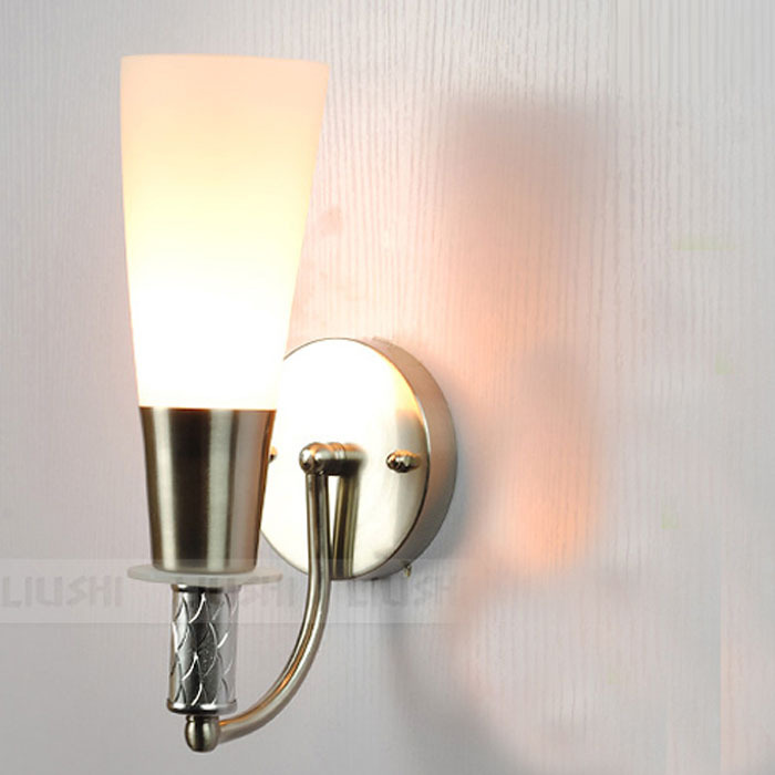 Modern Wall Sconces For Hallway : Aliexpress.com : Buy Modern Frosted Glass Torch Corridor Bathroom Wall Lights Glass Bedroom ...