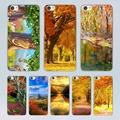 Autumn design transparent clear hard Case Cover for Xiaomi Mi 4 4c 4s 5 5s Plus