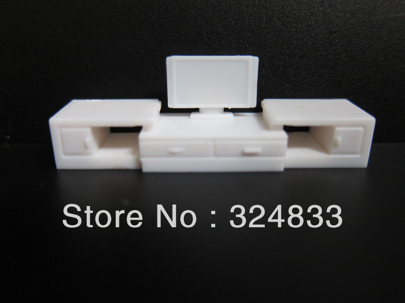 Scale 1 50 model furniture for tv set white color model Scale model furniture