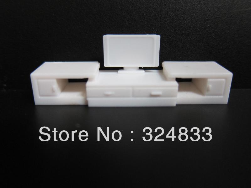 Scale 1 50 model furniture for tv set white color model for Scale model furniture