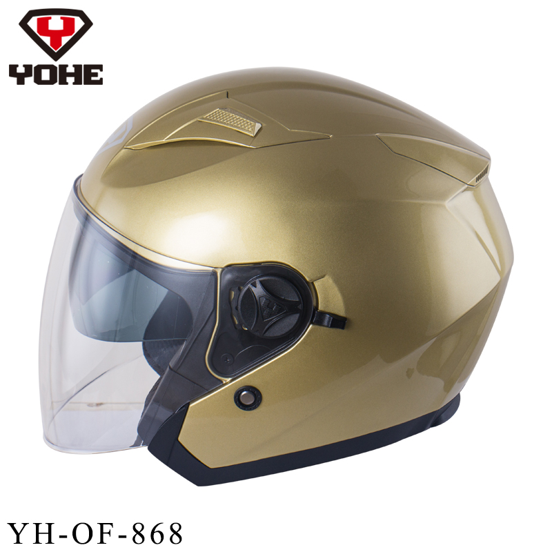 YOHE New Best Safe Motorcycle Helmet Abs 3/4 Open Face Helmet Ece Dot Unisex High Quality Half face helmet Free Shipping 868(China (Mainland))