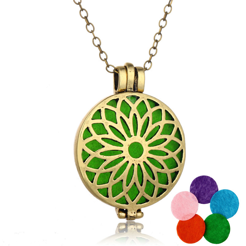 HOMOD Fashion Top Quality Perfume Locket Women Essential Oil Aromatherapy Diffuser Locket Pendant Necklace Woman Jewelry(China (Mainland))