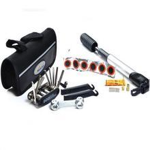 Calidad buena bicicleta de ciclo kits de reparación herramientas con bomba bolsita envío gratis