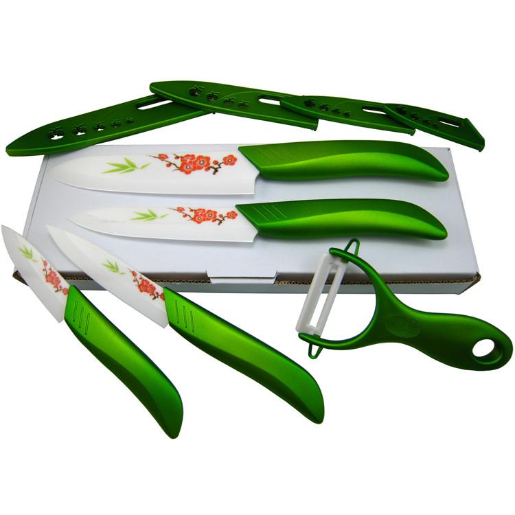 Buy quality flower printed ceramic knife for Kitchen knife set quality