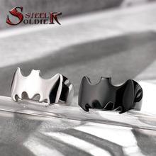 Steel soldier Высокого качества личности моды серебро/черный Batman arkham происхождение Кольцо Из Нержавеющей Стали Ювелирные Изделия ювелирные изделия BR8-226(China (Mainland))
