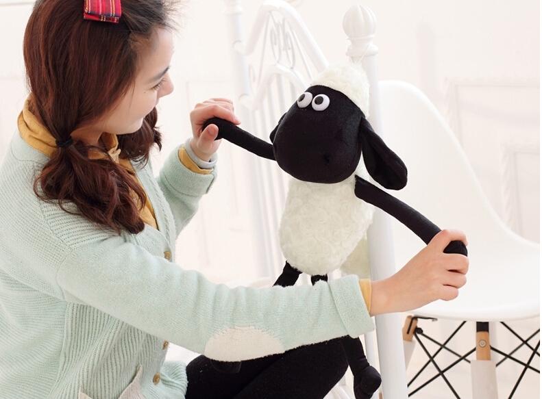 25cm Cute Shaun the sheep lamb plush toys wholesale Christmas gift bag sends kids Free shipping(China (Mainland))