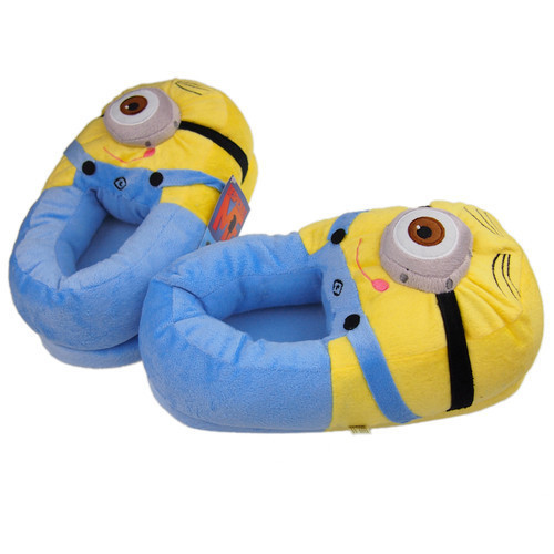 """11"""" 3D Despicable ME Minion Stewart Figure Shoes Plush TOY Slipper Doll Free shipping(China (Mainland))"""