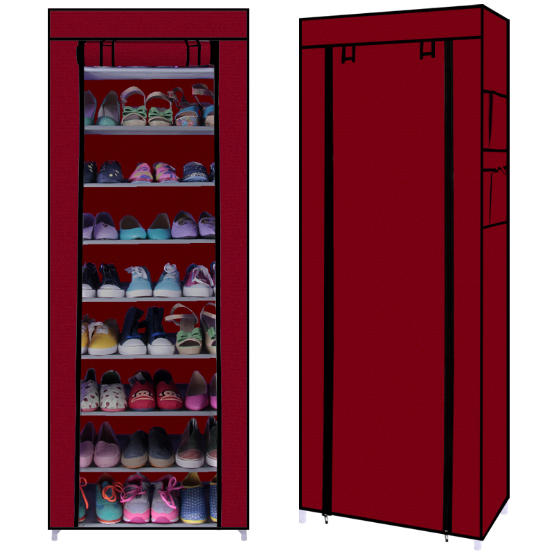 Ten layers of reinforcing steel simple commoner shoe cabinet storage dust Specials(China (Mainland))
