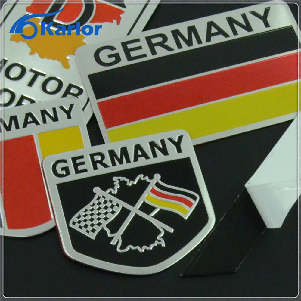 Car sticker design philippines - Germany German Flag 3d Car Stickers Aluminium Emblem Badge Decal Sticker Racing Motorsports For Vw Benz