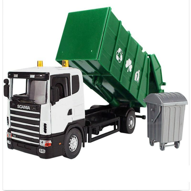2016 new Clean car Sanitation garbage rubbish truck eco-friendly car transport vehicle model toy truck as gift for boy children(China (Mainland))