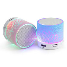 Led Mini Wireless Bluetooth Speaker Portable Column Speakers With Subwoofer Loudspeakers For Computer Phone Notebook Pc(China (Mainland))