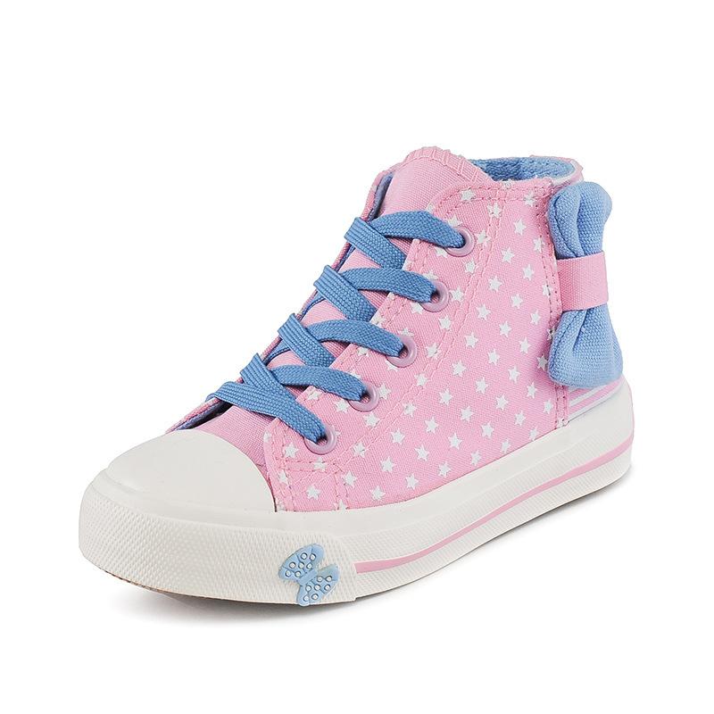 Children Girl Basketball Shoe Canvas Antiskid Rubber Sole Girls Running Shoes Jordan Sneakers Jordans Kids Size Free Shipping(China (Mainland))