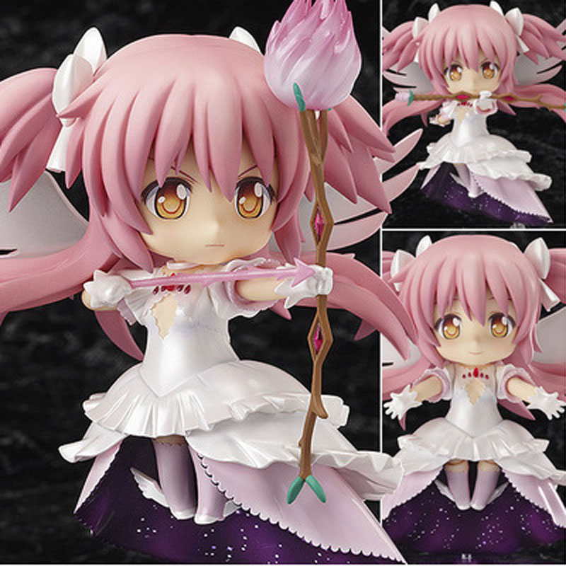 "Japanese anime figures Cute 4"" Nendoroid Puella Magi Madoka Magica Kaname Madoka doll Action Figure Model Collection sexy toy(China (Mainland))"
